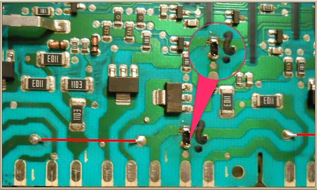 Pralka Bosch WAE 2844A - poszukiwana wartość rezystora SMD