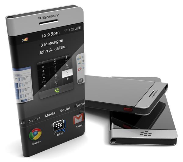 Nowa koncepcja telefonu od BlackBerry - obudowa 'owini�ta' wok� s�uchawki