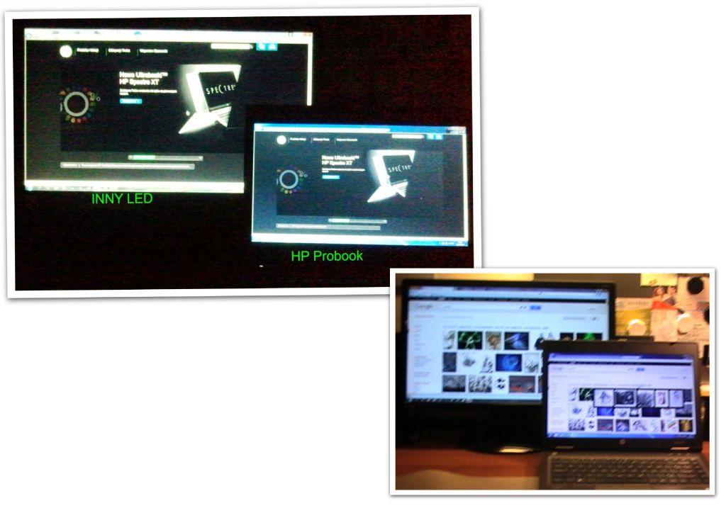 HP Probook 6460b - Matryca HD+-Nadmierne fioletowo-niebieskie odwzorowanie barw.