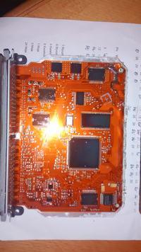 RENAULT ESPACE iii 2.0 16v - Zaśniedziała płytka ECU komputer Renault ESPACE III