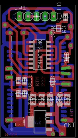 Atmega 8 + Bluetooth (BTM - 222)