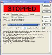 Gigabyte 8SG667 - Ocena temperatur P4 N-Wood 2,4GHz 533/512 + GF6600GT + 8SG667