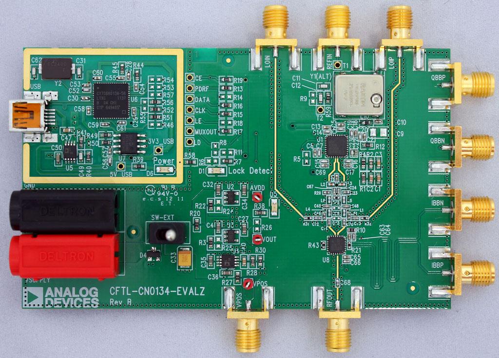Prototypowy transmiter niskiego b��du firmy Analog Devices