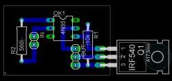 Układ załączający odbiornik 12V na transoptorze i tranzystorze