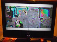 32LH7000-ZA - Linia w środku ekranu, kolory odwrócone