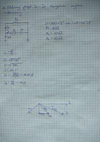 Obliczanie prądów i wykres wskazowy