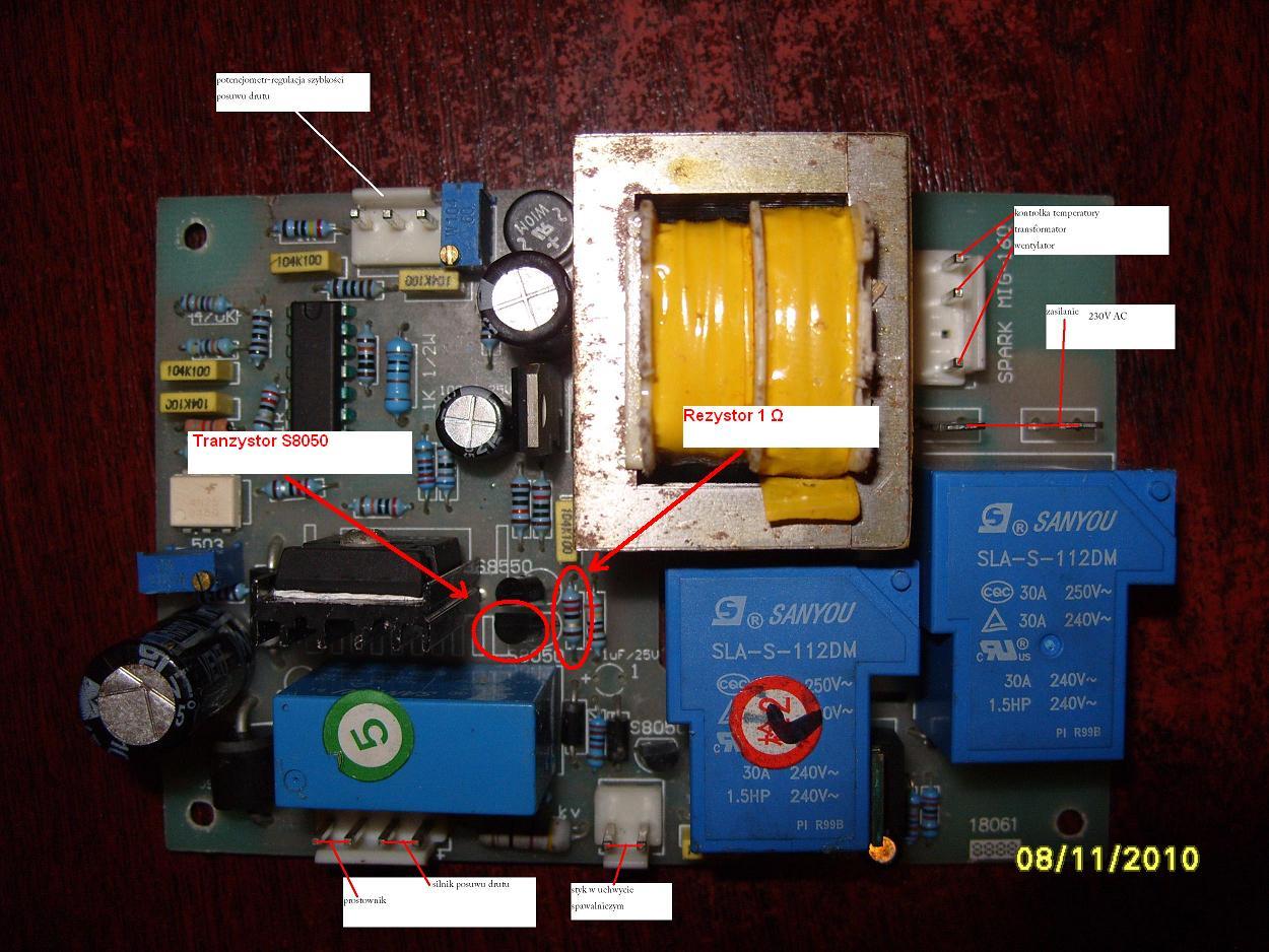 Migomat Sherman DualMIG200 - brak napi�cia g��wnego