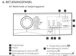 AEG lavamat L6FBL740I - ikonka blokady przed dziećmi w pralce