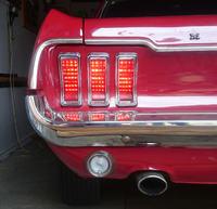 Przeróbka tylnych lamp na LED-owe w Fordzie Mustangu '68