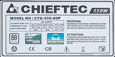 Chieftec model: CTG-550-80P - Po dostaniu napi�cia sieci ~230V sam si� w��cza?