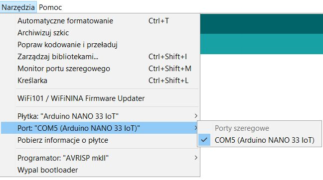 Arduino NANO 33 IoT, review, launch, tests, how to