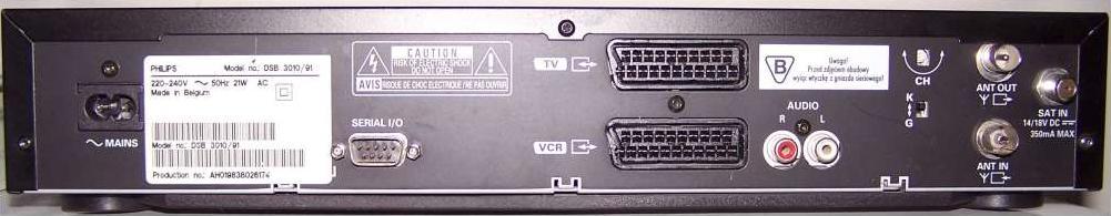 TV cyfrowa przez wej�cie antenowe