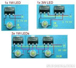 Zasilanie dla diody Power Led 3W 6000K