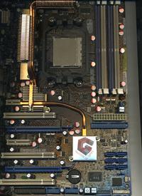 asus crosshair nForce590 sli - Uszkodzona płyta główna a naprawa ?