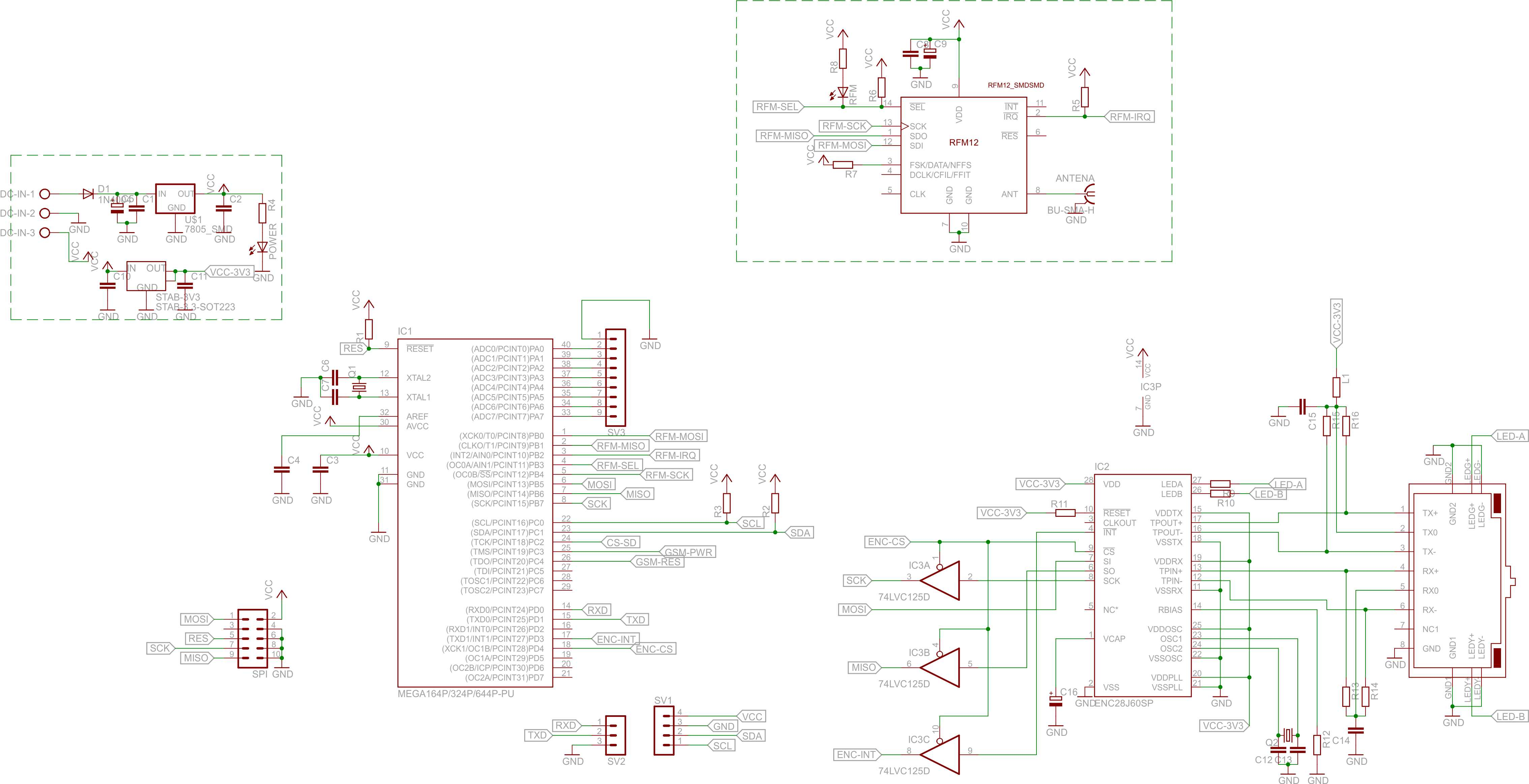 Atmega644/Bascom - ENC28J60 - schemat - pro�ba o sprawdzenie schematu