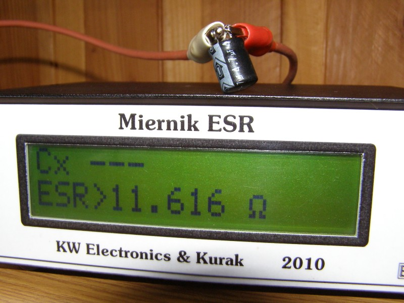 Track The Damage Capacitors Elco With Esr Meter