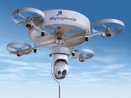 Sky Sapience HoverMast - urządzenie gromadzące informacje w otoczeniu terenu