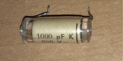 Zamiennik kondensatora - Zamiennik kondensatora KSF-012 w lampowym radiu