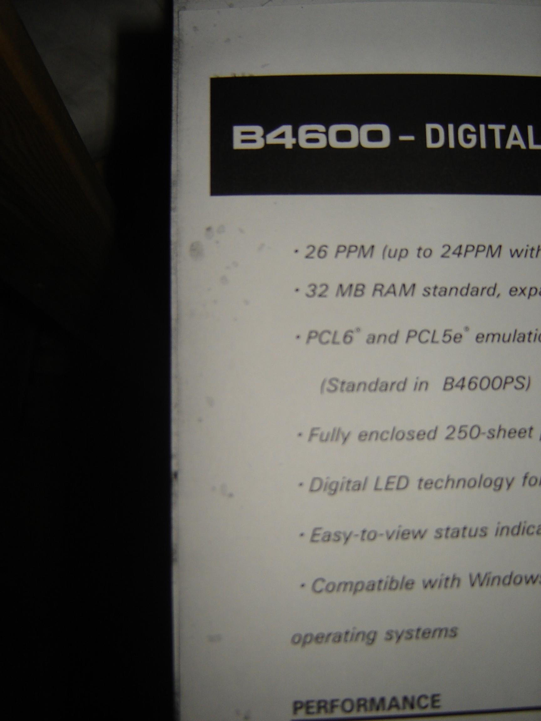 OKI B4600 plamki na wydruku