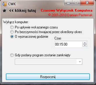Zaplanowanie wy��czenia komputera (CWK) Czasowy wy��cznik komputera