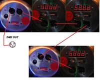 DMX 192 podłaczenie LEDTECHNIK LED PAR 64 RGB