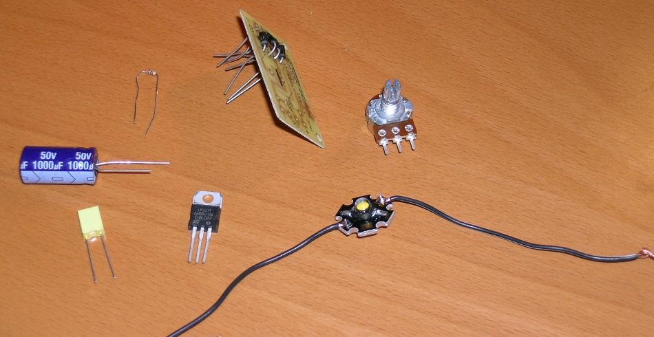 Regulator nat�enia �wiat�a (potencjometr + dioda)