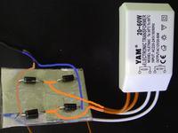 Prostowanie zasilacza AC, halogenowej przetwornicy, dla LED