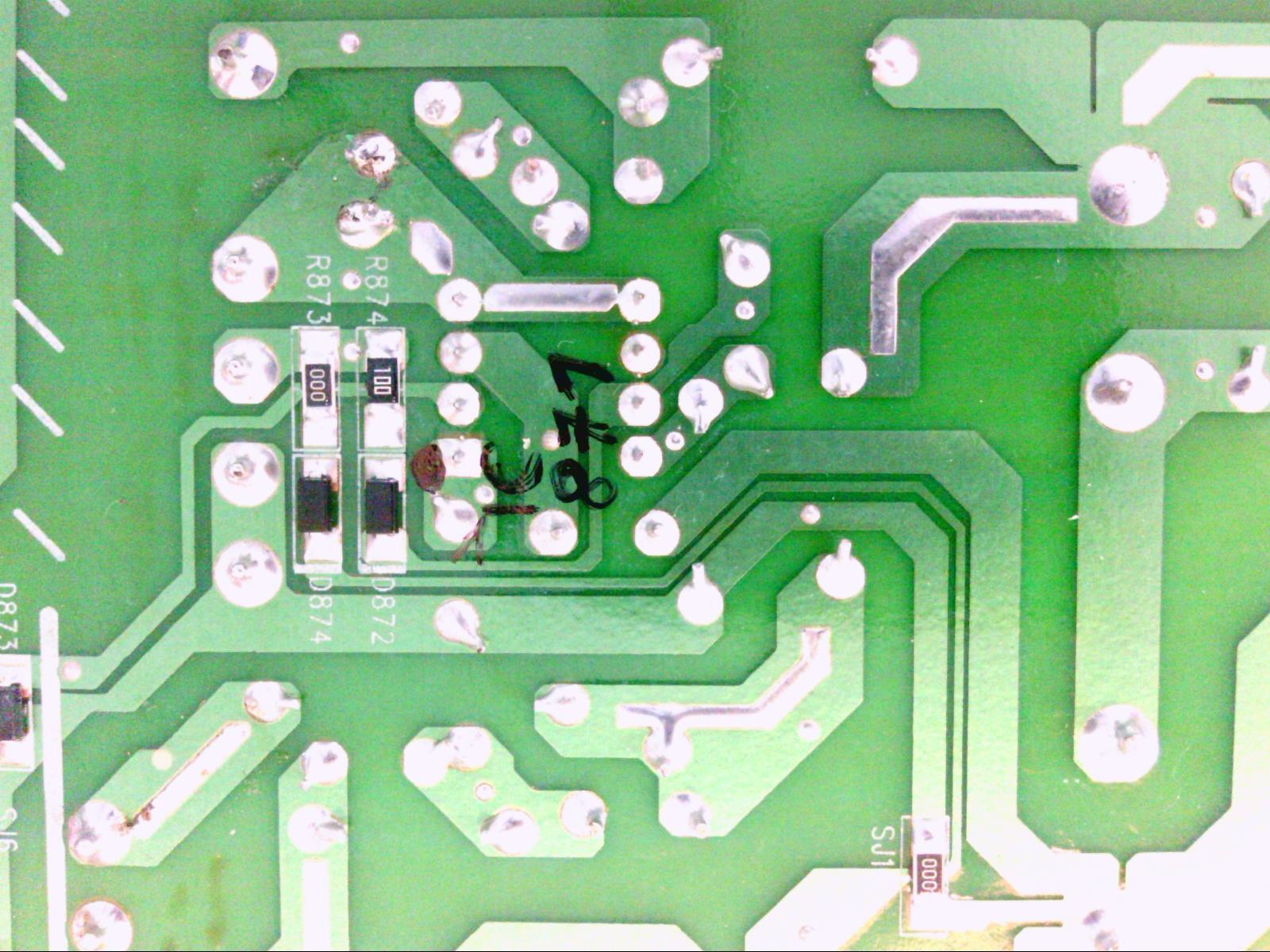 DENON RCD-N8 - damaged power supply - elektroda com