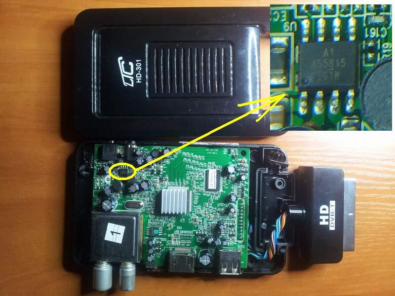 AS5815 - zasilanie w dekoderze DVBT LTC HD301
