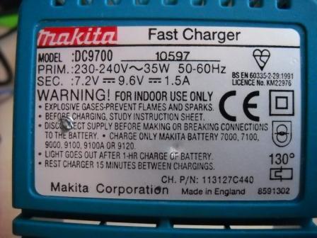 Ładowarka Makita DC9700 naprawa ?