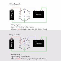 Chiński włącznik (latch) z LED. Jakie napięcie zasilania podświetlenia?