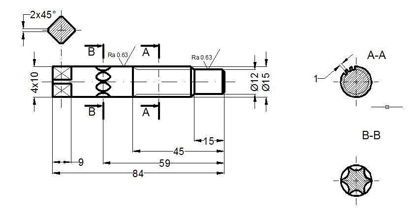 AutoCAD Wymiarowanie osi �limaka.