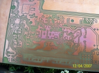 Printing with a laser printer on a PCB laminate
