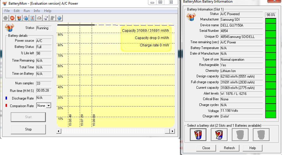 Dell 6510 Typ W1193 - nie �aduje i nie pracuje na baterii