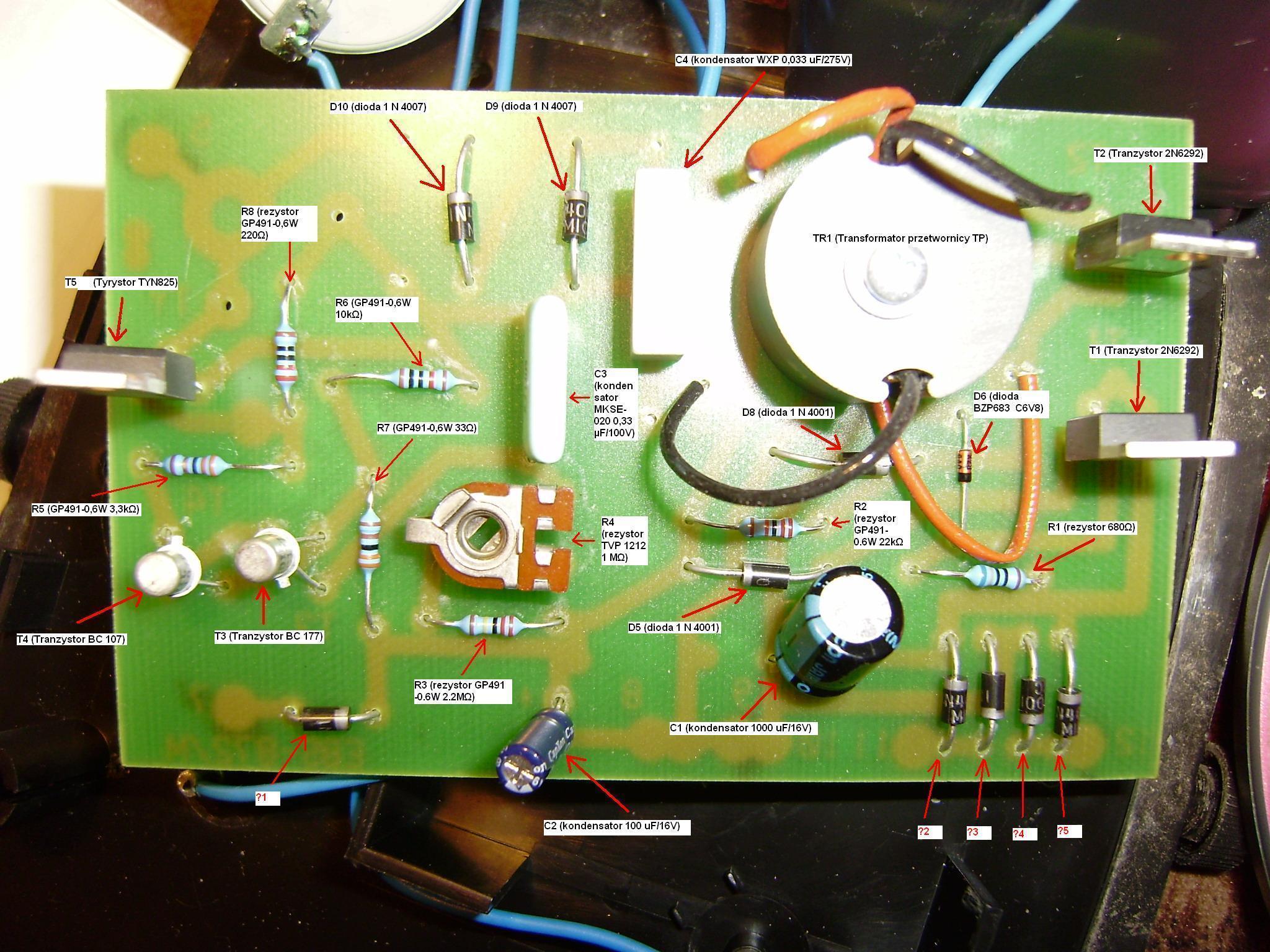 POMELAC EBS-872/M - Elektryzator wyje i brak iskry.