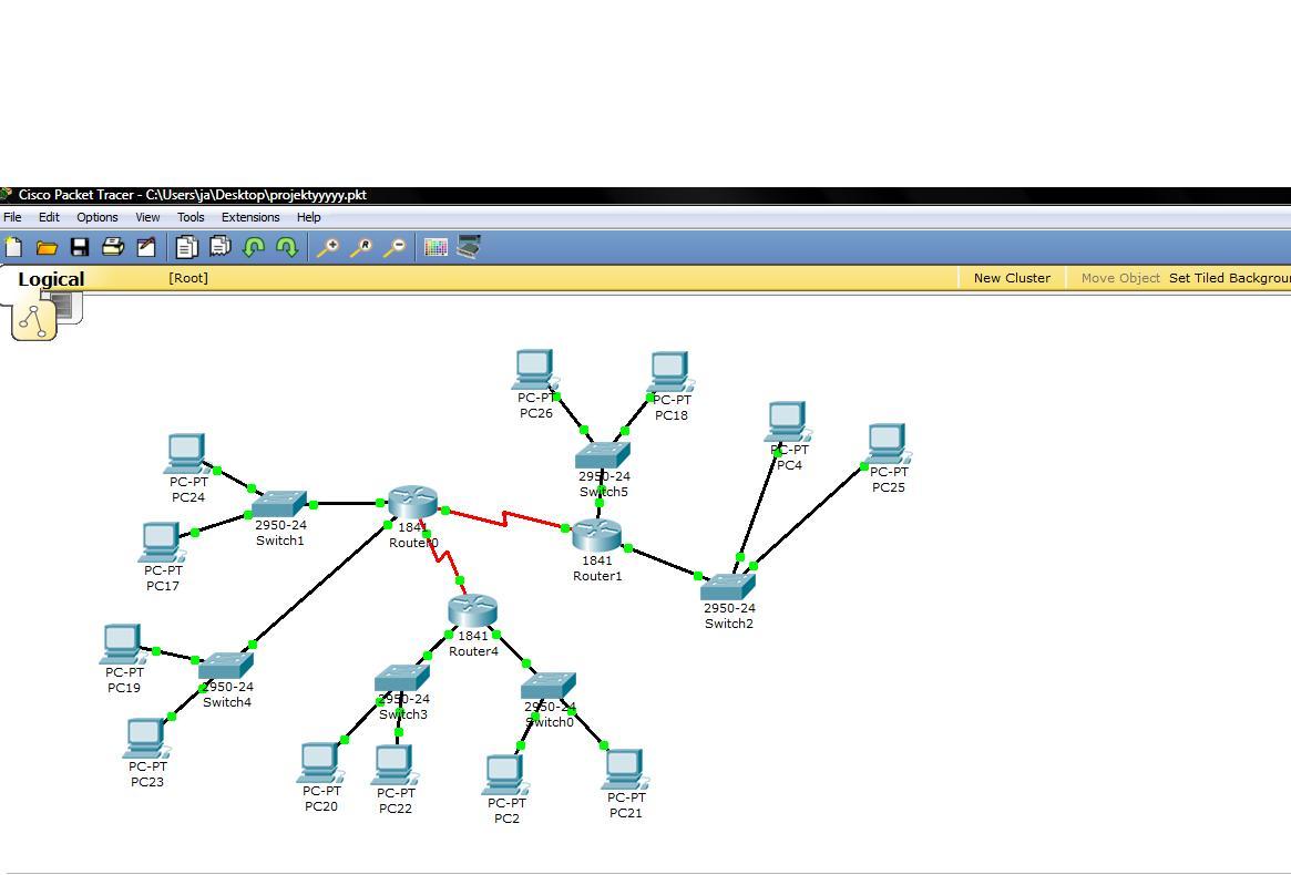 Cisco Packet Tracer - Po��czenie sieci z r�nych klas.