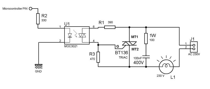 triac interface circuit help