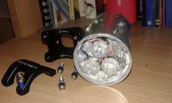 Lampka na rower 30W (przeszła 30 cykli użytkownie-ładowanie)