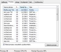Lenovo Z510 ideapad - win7 64bit, zbyt duże użycie pamięci fizycznej (*32)