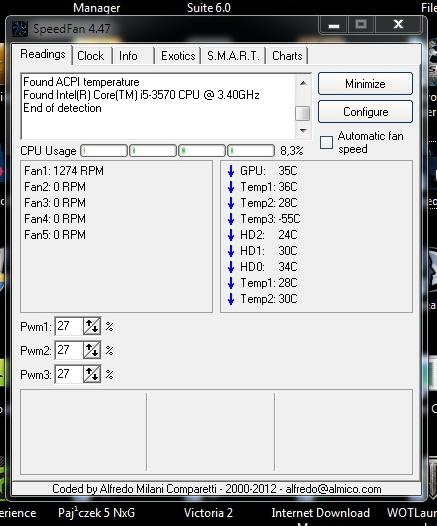 freeze ekranu :\ - freeze ekranu, prawdopodobnie wirus