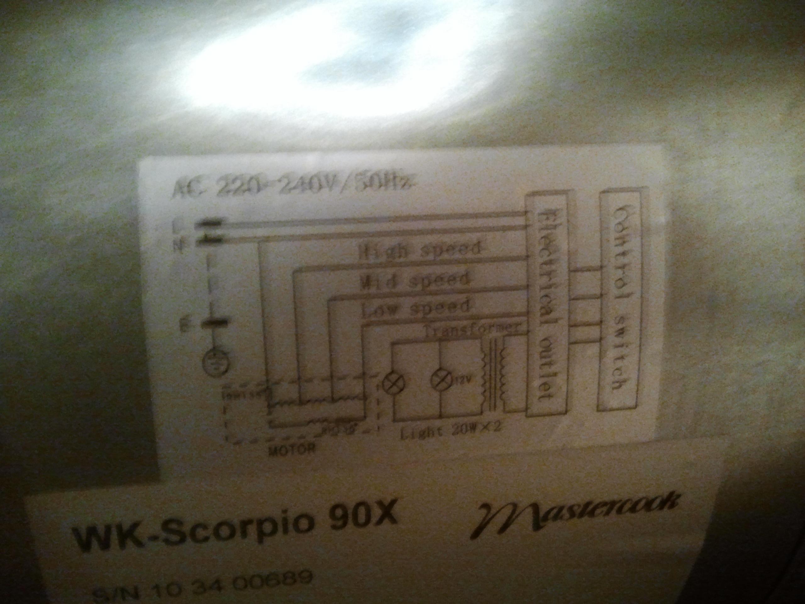 Okap Mastercook Scorpio - wymiana o�wietlenia halogenowego na LED