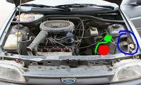 Ford Escort MK6 1992r - Pompka paliwa, wskaźnik paliwa, centralny zamek