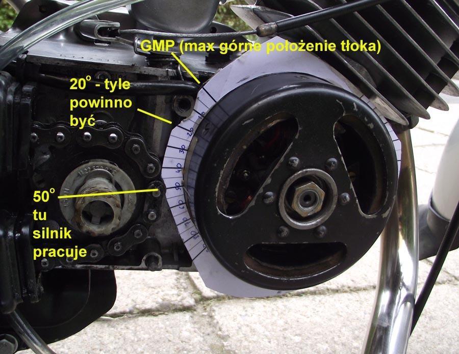 Simson - silnik pracuje tylko przy bardzo przyspieszonym zap�onie (50 stopni)