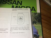 Nissan Micra K11 1.0 02' - Kontrolka awaryjnych nie świeci