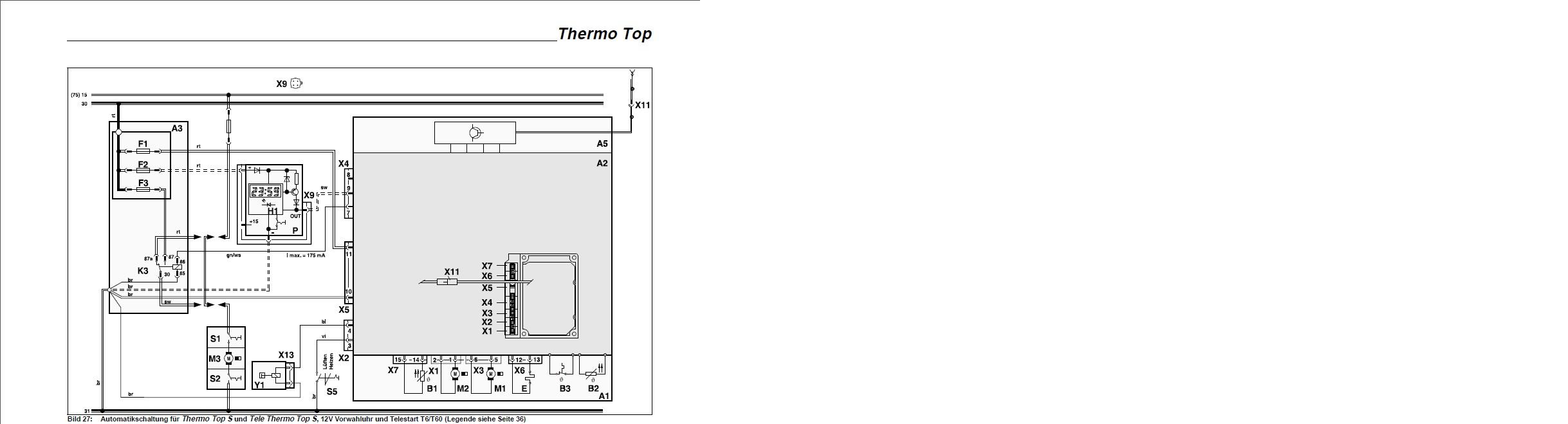 Webasto Thermo Top BW 50 zasilanie elektrozaworka/diagnoza