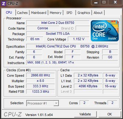 [Sprzedam] Procesor Intel Core 2 Duo E6750 2,66GHz/4MB/1333FSB Rev.G0