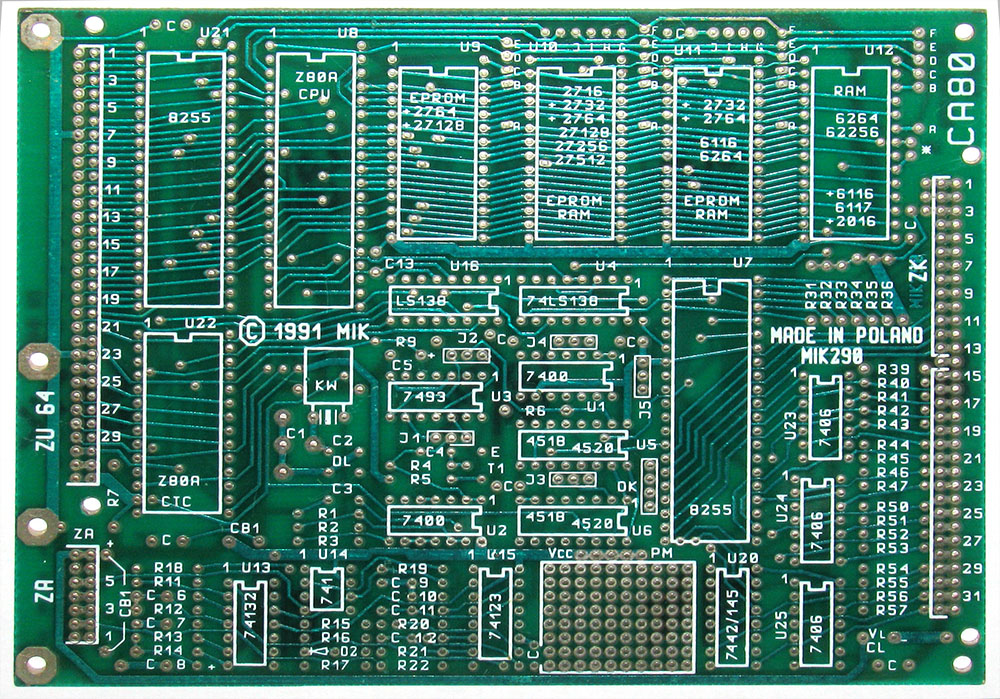 [Sprzedam] P�yty drukowane dwustronne komputera CA80