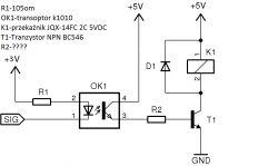 Dobór elementów do sterowania cewką przekaźnika