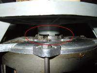 FAGOR FI-30, FI30 - uszkodzona pompa wody na osi silnika, cieknie, jak �ci�gn��