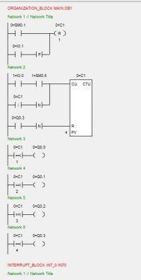 LD, korekta prostego programu symulatora silnika krokowego